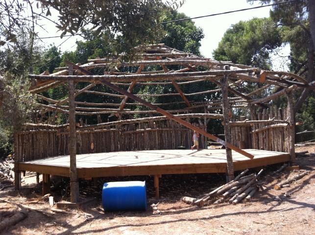סטודיו ליוגה - שלד מעץ+דקל